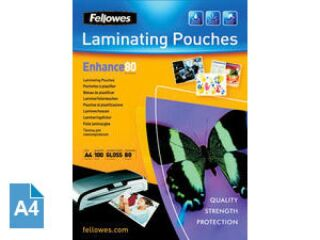 Fellowes Pochette à plastifier, A4, brillante, 160 microns