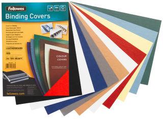 Fellowes Couverture pour reliure Delta, texture de cuir, A4,