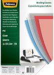 Fellowes couverture, format A4, pvc, 0,18 mm, transparent