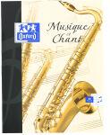 Oxford Cahier de musique, format A4, seyès, 24 + 24 pages