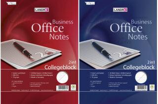 LANDRÉ Collegeblock '2 en 1' format A4+, 2 linéatures,