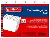 herlitz Index alphabétique, PP, A5 à l'italienne, blanc