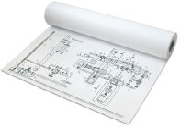 PAPYRUS Rouleau de papier pour traceur jet d'encre,