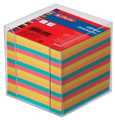 herlitz Bloc de fiches pour boîte, 90 x 90 mm, coloré