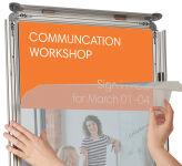 NOBO cadre porte-affiche A4, kit de fixation inclus, 25 mm