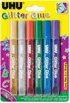 UHU Colle scintillante Glitter Glue Original, contenu:6x10ml