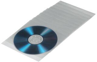 hama Pochette protect. pr CD/DVD, PP, transp.,ouvert en haut