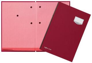 PAGNA Parapheur 'DE LUXE', A4, 20 compartiments, rouge