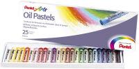 PentelArts pastel à huile PHN4, étui en plastique de 25