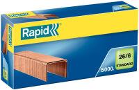 Rapid agrafes Standard 26/6, cuivré