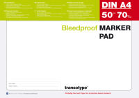 COPIC Bloc pour marqueur format A3, 70 gm2, 50 feuilles