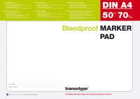transotype Bloc pour marqueur, A3, 70 g/m2, 50 feuilles