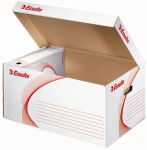 Esselte Container d'archivage, ondulé, blanc