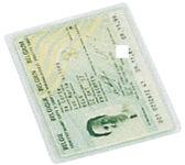 LEITZ Étuis de poche, PVC, simple, 0,20 mm, 54 x 86 mm