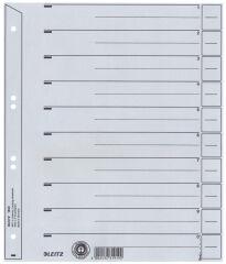 LEITZ Intercalaires, format A4, en carton solide 200 g/m2