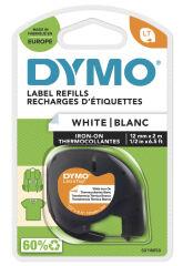DYMO Cassette de ruban LetraTag, métallique, 12 mm x 4 m