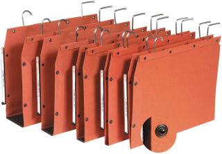 ELBA l'oblique Dossiers suspendus TUB, orange, fond: 50 mm,