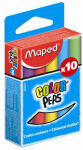 Maped craie pour tableau COLOR'PEPS,ronde,couleurs assorties