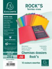 EXACOMPTA Lot chemises et sous-chemises ROCK'S, assorties