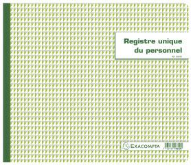 Piqûres et registres spéciaux / Registre unique du personnel / Registre d'employés (EXACMOPTA 40 feuilles 27x32 cm)