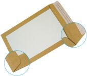 GPV Pochettes dos carton, C4, 229x324 mm, kraft brun