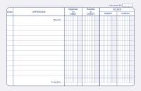 ELVE Livre de compte 'Carnet de position', 110 x 150 mm