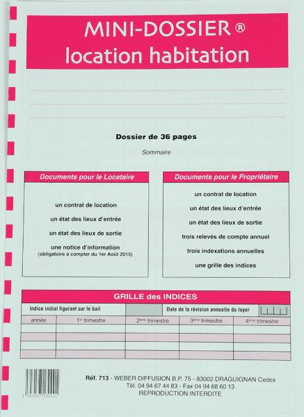 """WEBER Formulaire français /""""Kit Meublé non saisonnier/"""""""