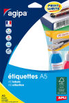 agipa Etiquettes multi-usage, 12,8 x 38 mm, blanches