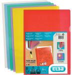 ELBA Pochettes coins M Star, en film solide PVC 0,15mm,rouge