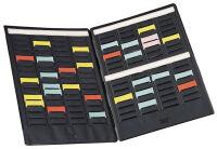 NOBO Mini-Plannings portable, 3 colonnes de 16 fentes/volet
