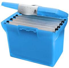 l'oblique Valisette plastique Class'N Go, bleu translucide,