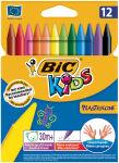 BIC Crayon de cire Plastidecor, étui en carton de 12