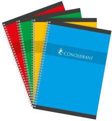 CONQUERANT SEPT Cahier reliure intégrale, A4, Seyés