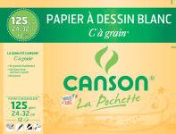 CANSON Papier à dessin blanc 'C' à grain, format A4, 180g/m2