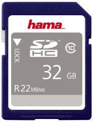 hama Carte mémoire High Speed Gold SecureDigital, 16 Go
