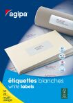 agipa Etiquettes multi-usage, 50 x 20 mm, blanches