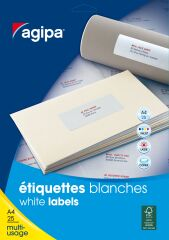 agipa Etiquettes multi-usage, 50 x 20 mm, blanc