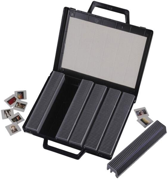 hama 1601090 15 90 hama malette de rangement pour diapositives rabattable noir. Black Bedroom Furniture Sets. Home Design Ideas