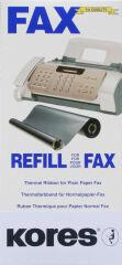 Kores Rouleau thermotransfert pour brother Fax T72, 74, noir