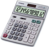 CASIO Calculatrice de bureau DF-120 ECO, solaire / pile
