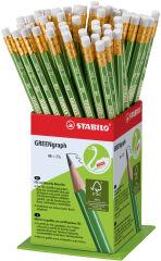 STABILO Crayon GREENgraph, dureté: HB, présentoir de 60