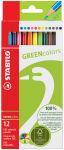STABILO Crayon de couleur GREENcolors, étui carton de 12