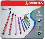STABILO Feutre Pen 68, étui métallique de 40