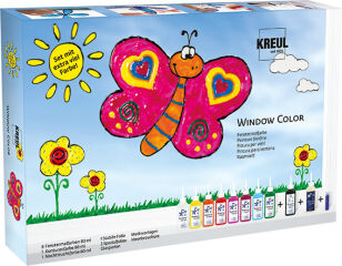 KREUL Window Color, kit avec beaucoup de peinture