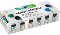KREUL Peinture à marbrer 'Magic Marble',kit couleurs de base