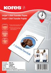 Kores papier transfert pour t-shirt, pour textiles clairs