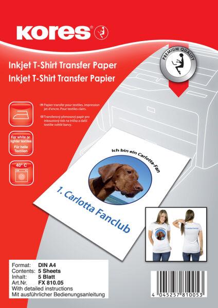 kores 5620420 7 90 kores papier transfert pour t. Black Bedroom Furniture Sets. Home Design Ideas
