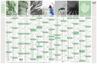QUO VADIS Calendrier mural 'Equology' 2022, 650 x 430 mm