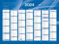 QUO VADIS Calendrier de banque bleu 2018, 430 x 335 mm