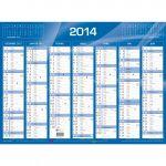 QUO VADIS Calendrier de banque bleu 2018, 550 x 405 mm